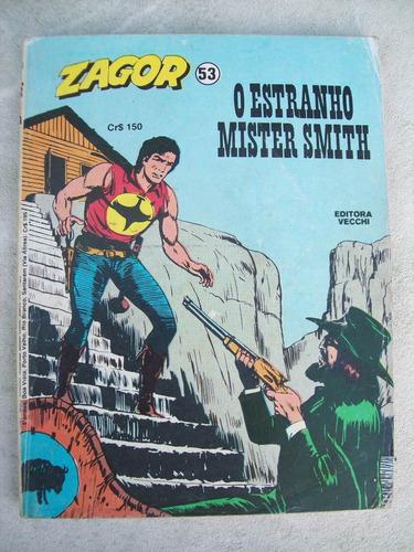 zagor nº 53: o estranho mister smith - ed. vecchi - 1982