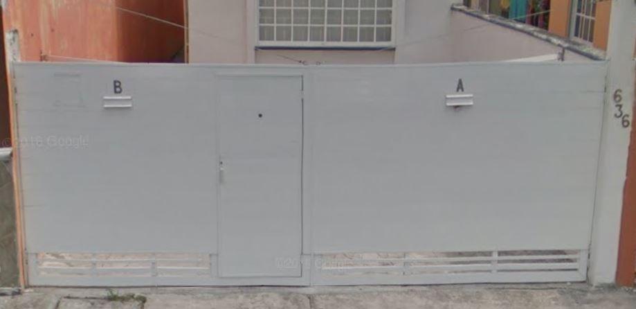 zaguan de aluminio de 6 metros de long 3m x puerta