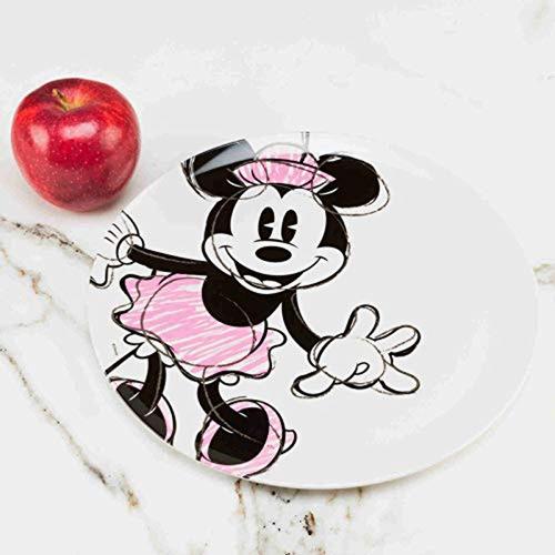 zak designs minnie mouse 10in durable melamine