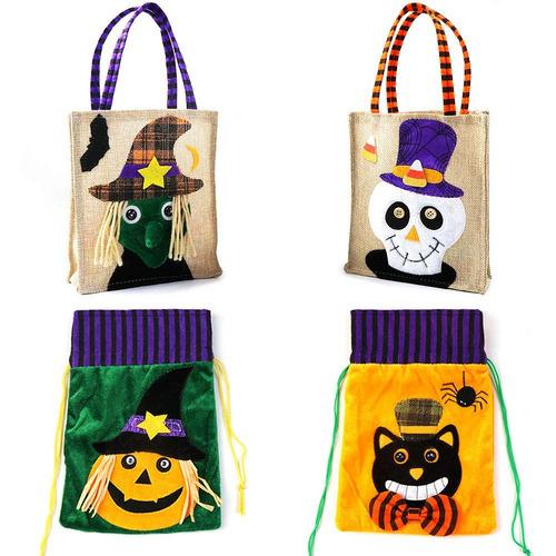Zalalova Bolsas De Halloween Trick Or Treat 4 Paquetes Bo ...