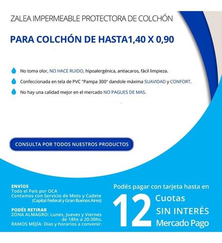 zalea protector impermeable de pvc para incontinencias