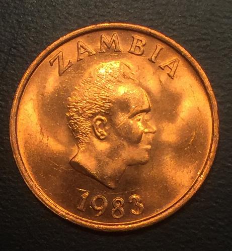 zam001 moneda zambia 1 ngwee 1983 unc-bu ayff