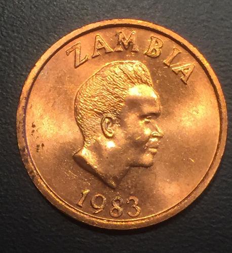 zam003 moneda zambia 2 ngwee 1983 unc-bu ayff