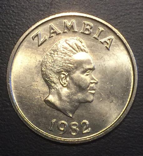 zam006 moneda zambia 5 ngwee 1982 unc-bu ayff
