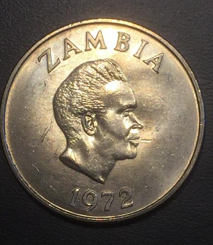 zam009 moneda zambia 20 ngwee 1972 unc-bu ayff