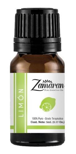 zamaran aceite esencial puro 100% terapéutico limón