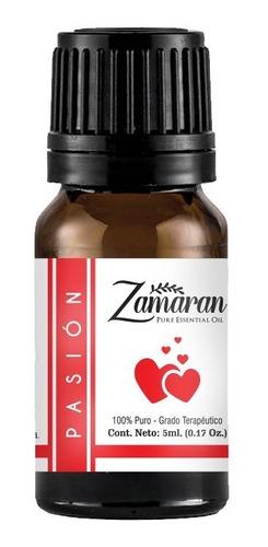 zamaran aceite esencial puro 100% terapéutico pasión