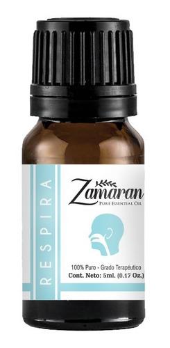 zamaran aceite esencial puro 100% terapéutico respira