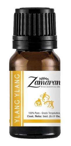 zamaran aceite esencial puro 100% terapéutico ylang ylang