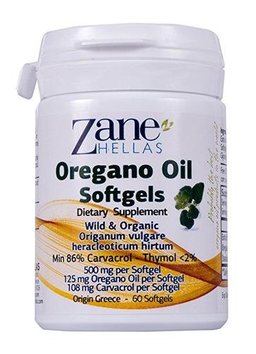 zane hellas orégano cápsulas blandas de aceite. concentrado