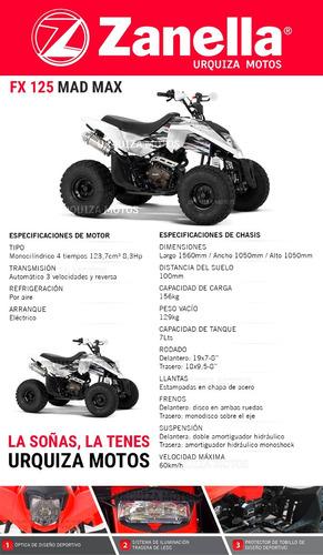 zanella 125 cuatriciclo motos