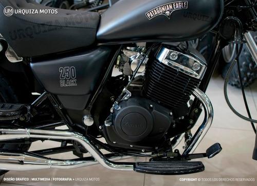 zanella patagonian 250 black chopper custom moto 0km