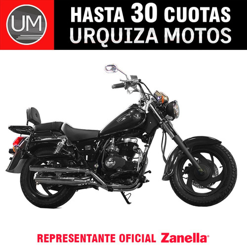 zanella patagonian eagle 250 black custom 0km urquiza motos