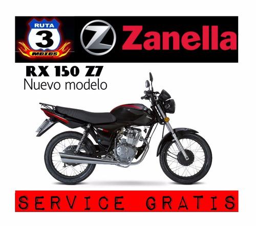 zanella rx 150 z7 anticipo $20.000 y 18c $3750 0km 2020