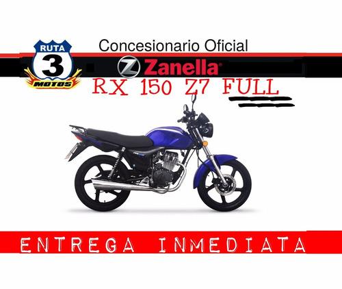 zanella rx 150 z7 full 0km entrega inmediata