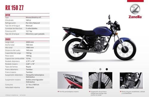 zanella rx 150cc z7 - motozuni  lanús