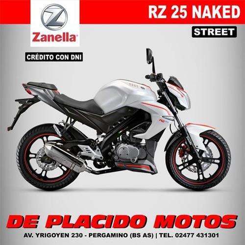 zanella rz 25 naked 0km - modelo 2016