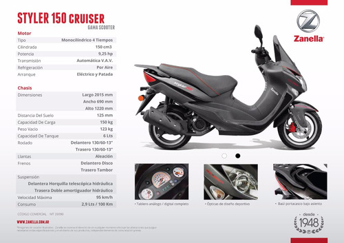 zanella styler cruiser scooter