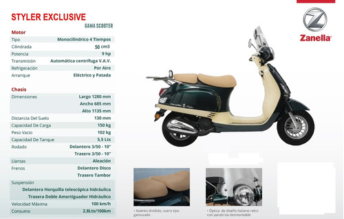 zanella styler exclusive scooter