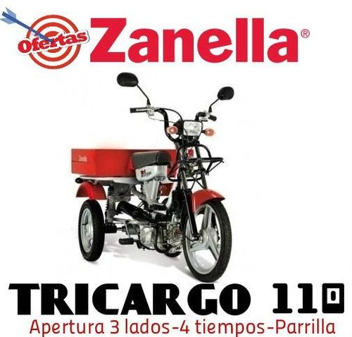 zanella tricargo 110 ant $20.000 y 18 cuotas $5625 ruta 3