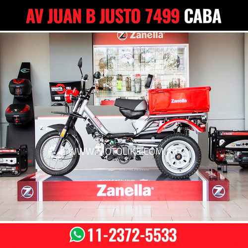 zanella tricargo 110 lt utilitario carga moto 125 xt blanco
