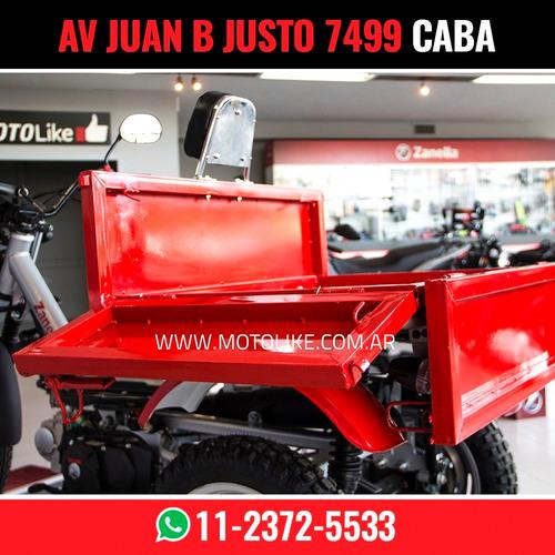 zanella tricargo 110 lt utilitario carga moto like re