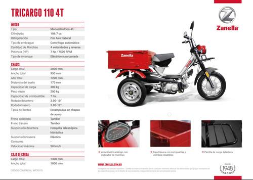 zanella tricargo 110 utilitario carga triciclo con caja