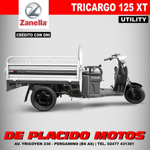 zanella tricargo 125 xt - ideal reparto