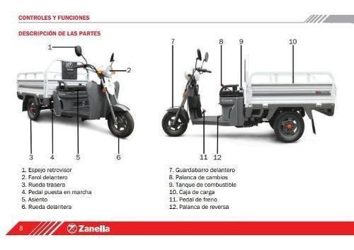 zanella tricargo 125cc xt  arizona motos