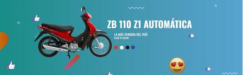 zanella zb 110 automatica sin cambios 0km en cuotas con dni