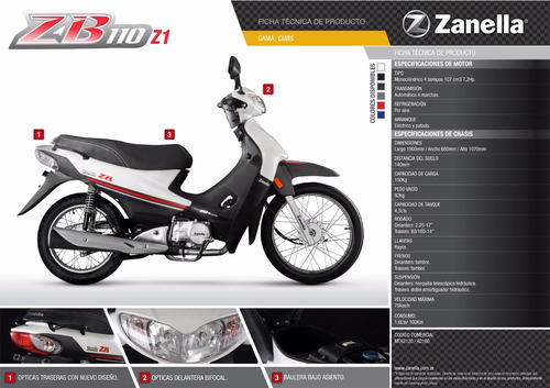 zanella zb 110 z1 base entrega inmediata