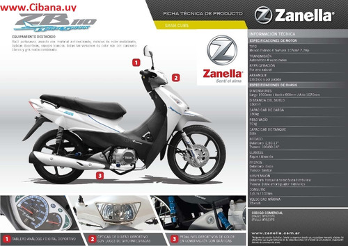 zanella zb white shark 110