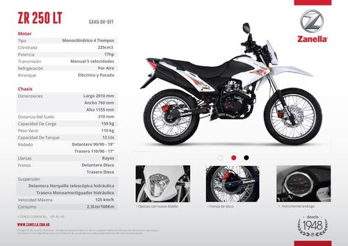 zanella zr 150 18 cuotas de $6937 oeste motos