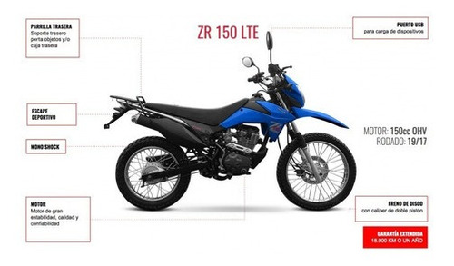 zanella zr 150 lte - moto zuni  temperley