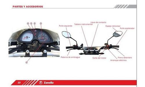 zanella zr 150 lte - motozuni  san miguel