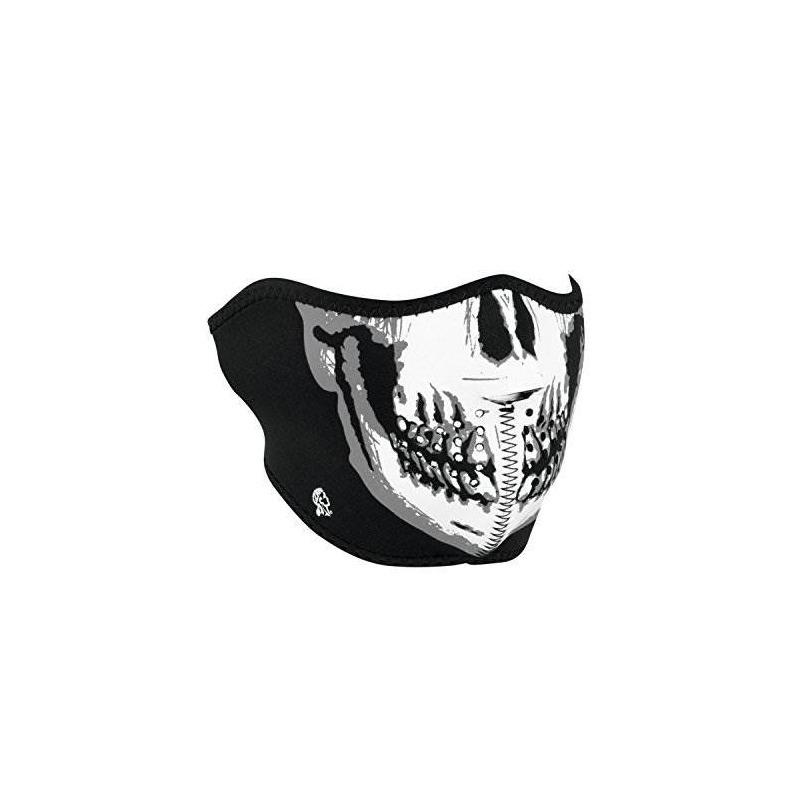 aaab4c2c24a Zanheadgear Neoprene Skull Half Face Mask (blanco   Negro ...
