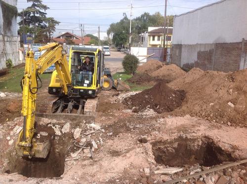zanjeos - excavaciones - plateas - mov de suelos