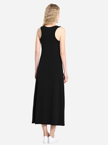 zanstyle chaleco de cuello ronda vestido casual