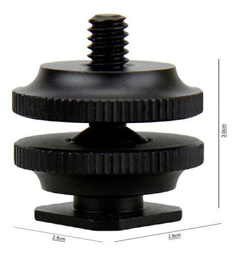 zapara a tornillo adaptador de 1/4 tripie stand light