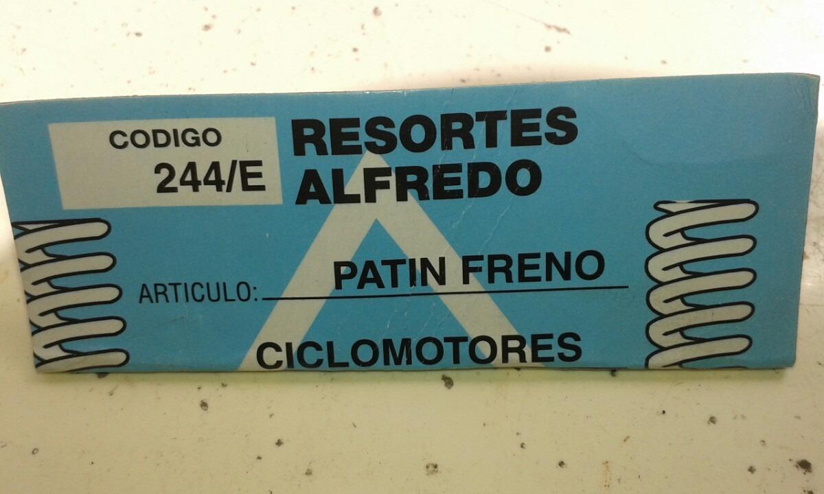 En 50 Freno Para De 60 Zapata Libre Omega Mercado Ciclomotor Resorte x0q8B1B