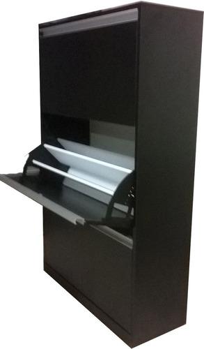zapatera 3 niveles, moderna, elegante, estilo minimalista.