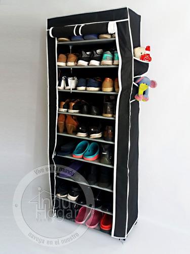 zapatera con forro organizador de zapatos 27 pares