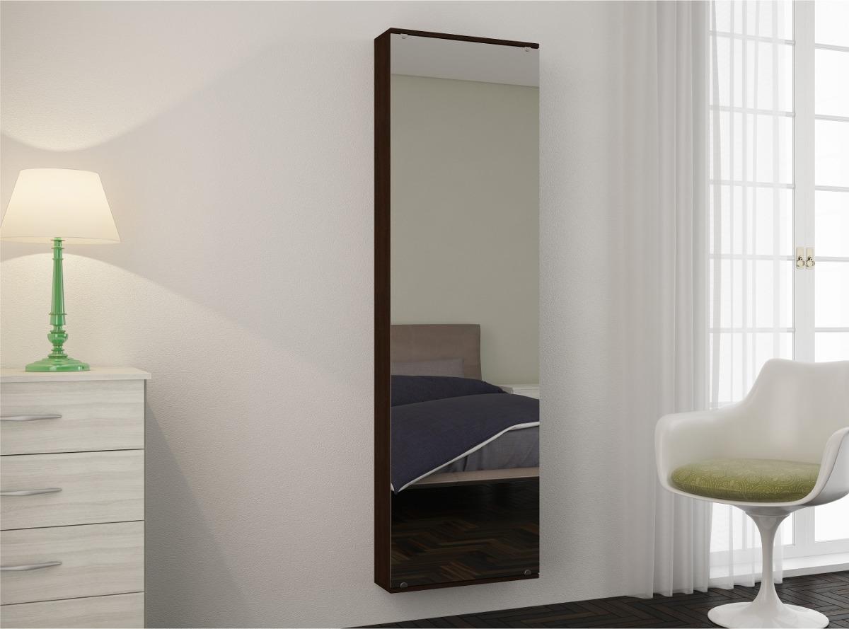 Zapatera con puerta de espejo y gran capacidad b s t 09 49 for Espejo para puerta