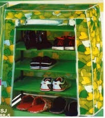 zapatera de 9 pisos 27 pares de zapatos con forro cobertor