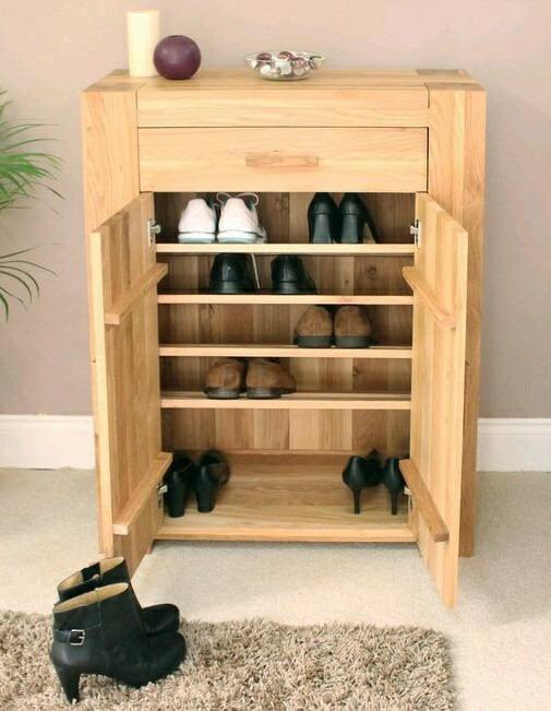 Zapatera de madera de pino para 10 pares bs for Disenos de zapateras de madera
