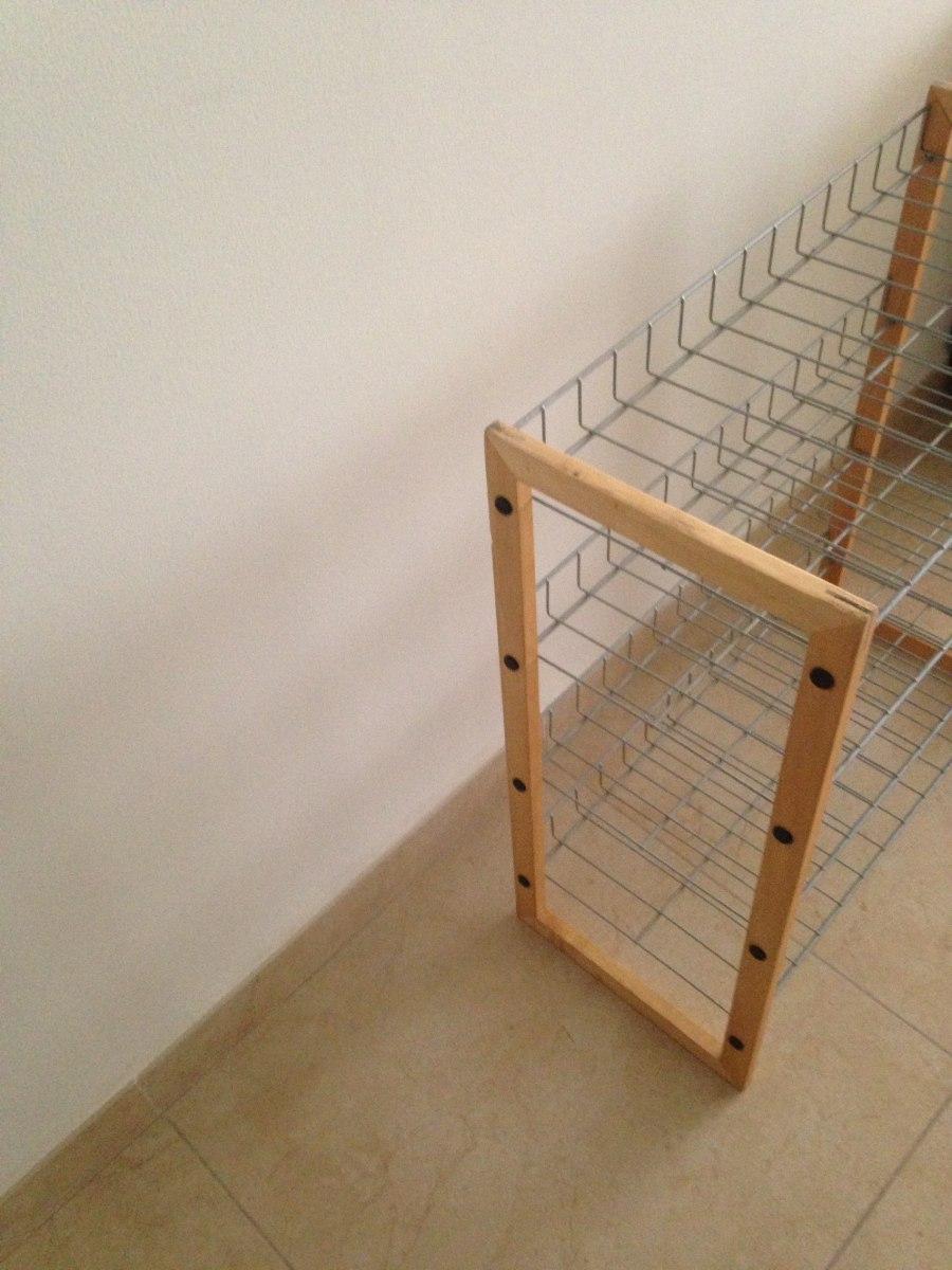 Zapatera de madera y acero en mercado libre for Precio de zapateras de madera