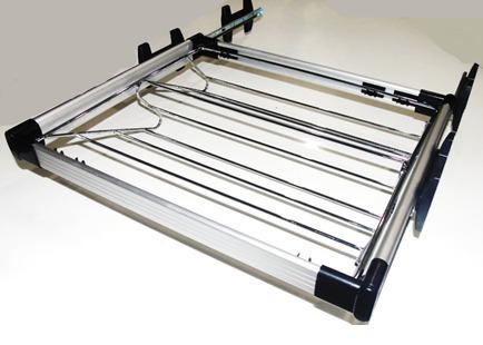 zapatera extraible 60cm aluminio accesorios closet vestier