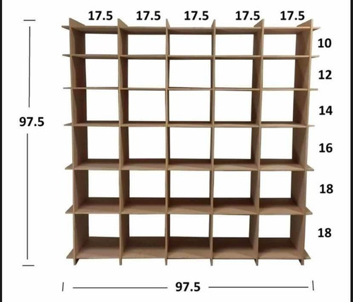 zapatera organizador 35 pares madera mdf fácil de armar