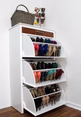 Zapatera para 45 pares de zapatos diferentes colores for Zapateras de metal