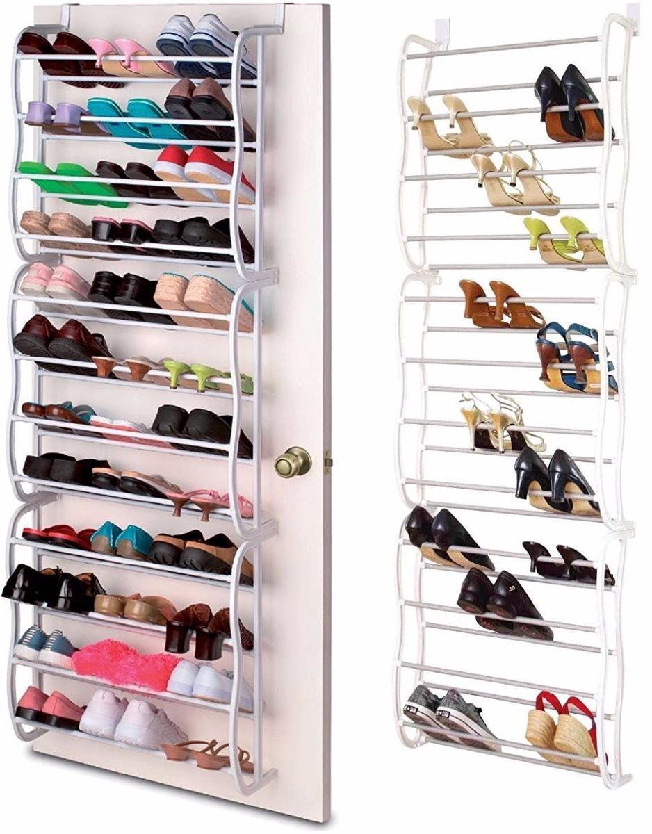 Zapatera para puerta closet colgante 36 pares de zapatos en mercado libre for Zapateras para closet
